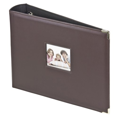 3-Ring Photo Binder Album With Sewn Leatherette Frame