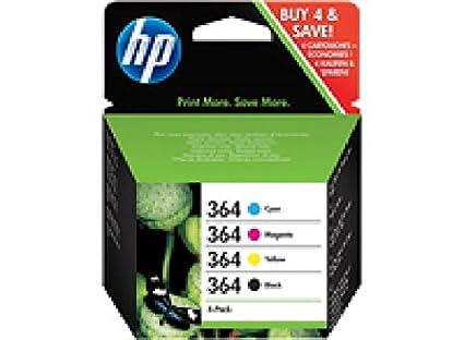 COMBO pack hP 364-pack de 4-noir, cyan, magenta, jaune-original-cartouche d'encre pour photosmart plus b209 c5393, premium c309, premium fax c3 j3M82AE hP pSCD5460 cOMBO (4) 4xNo.364 cyan 5sht 13 x 18 cm