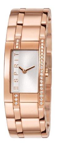 Esprit  ES000M02121 - Reloj de cuarzo para mujer, con correa de acero inoxidable, color oro rosa