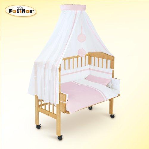 Fabimax - Lettino da affiancare al lettone per neonati BabyMax classico con accessori Hanna, 6 colori assortiti