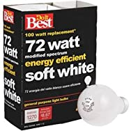 GE Private Label 90860 Do it Halogen Light Bulb-72W 4PK SOFT WHITE BULB