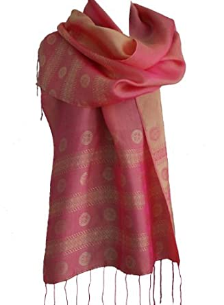 NEW!- Fandori Silk Scarf with a Subtle Complementing and Contrasting Color