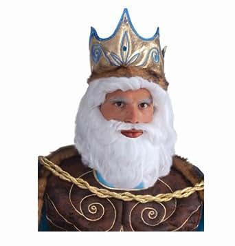 Forum Novelties Men's King Neptune Wig, White, One Size