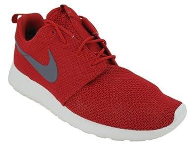 Nike Men's NIKE ROSHE RUN RUNNING SHOES 9 (SPORT RED/COOL GREY/SAIL)