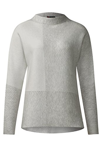 street-one-damen-karo-pullover-delia-cyber-grey-melange-44