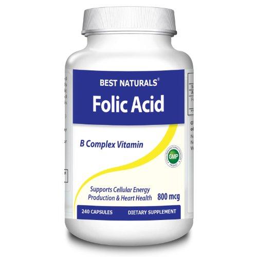 Best Naturals, Folic Acid, 800 Mcg, 240 Capsules
