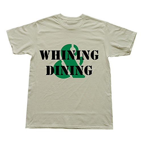 Hoxsin Natural Men'S Whining Dining Hot Roundneck T Shirts Us Size Xl