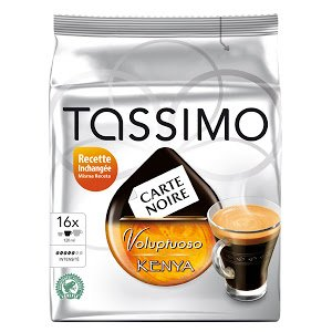 Tassimo Carte Noire Voluptuoso Kenya, Rainforest Alliance Certified, 16 T-Discs