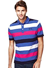 Blue Harbour Pure Cotton Block Striped Polo Shirt