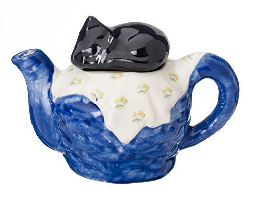 Carters-de-Suffolk-Thire-Cramique-Panier-pour-chat-une-tasse-BleuBlancNoir