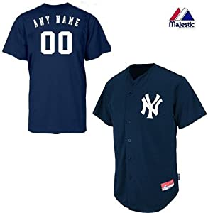 New York Yankees Full-Button CUSTOM or BLANK BACK Major League Baseball Cool-Base... by Majestic Authentic Sports Shop