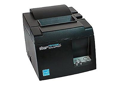 Star Micronics 39472110 Model TSP143IIIBI Thermal Printer, Auto-cutter, Bluetooth, IOS, Android/Windows, Power Supply, Gray