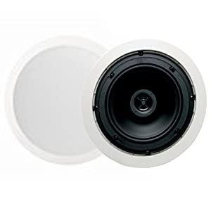 "Jamo 8.5CS 8.5"" Round In-Ceiling Surround Sound Home Theater Speakers - Pair"