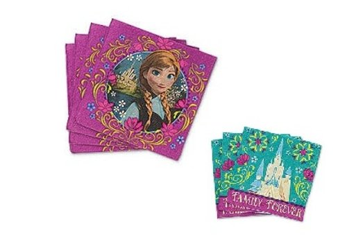 Disney's Frozen Anna Party Napkins ~ Dinner & Beverage Napkins ~ 32 of each - 1