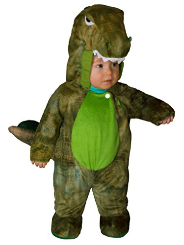 Totally Ghoul Infant Boys Green Dino Costume Dinosaur Outfit 6-12 Months