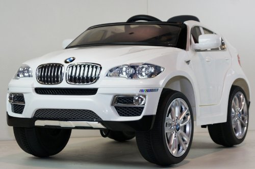 UNDER LICENSED BMW X6 NEW POWER RIDE ON TOY ELECTRIC CAR WITH MP3 CONNECTION AND WORKING DOORS, REMOTE CONTROL, 2 MOTORS,2 BATTERY, 2 SPEED.