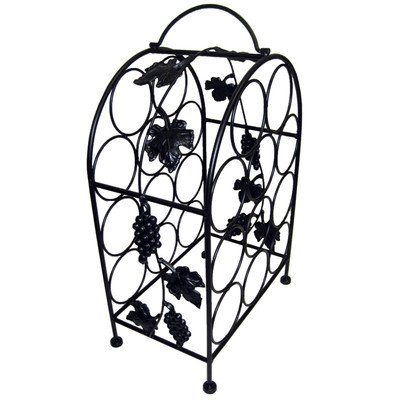 Pangaea Home and Garden BT-W057-K 11 Bottle Iron Wine Rack with Grape Vines (Wildon Home Wine Rack compare prices)
