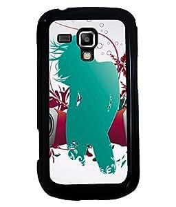 PRINTVISA Girl Enjoy Music Premium Metallic Insert Back Case Cover for Samsung Galaxy S Duos S7562 - D5848
