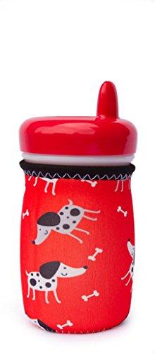 Kidzikoo - #1 Neoprene Baby Bottle/Sippy Cup Insulator Cooler Coozie - Puppies