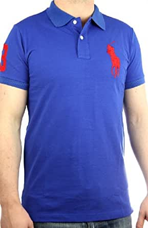 Polo by Ralph Lauren Polo pour homme Big Pony coupe slim (Bleu/rouge)