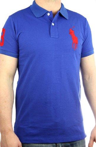 Polo by Ralph Lauren Big Pony Mens Polo-Shirt blue, slim fit , men shirt