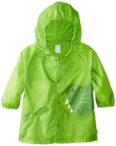 i play. Baby Boys' On Safari Lightweight Pocket Raincoat, Green Crocodile, (S/M) 6 12 Months