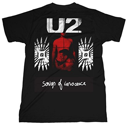 U2 Red Shade Album Songs of Innocence Rock ufficiale Uomo maglietta unisex (Medium)