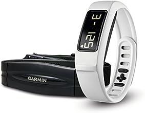 Garmin vívofit 2 - Pulsera de actividad con pulsómetro, color blanco, talla S/L