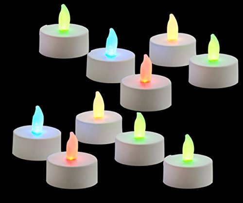 Ascension Flame Less Automatic Color Changing LED Candles With Free Battery Pack Of 10