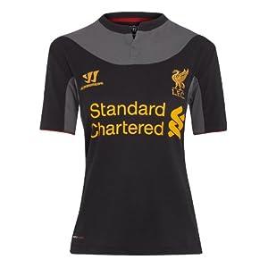 Warrior Women's Liverpool Football Club Away Short Sleeve - Black/Raven Grey, Size 10 by Warrior