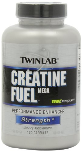 Twinlab Creatine Fuel Mega Performance Enhancer, Strength, 120 Capsules