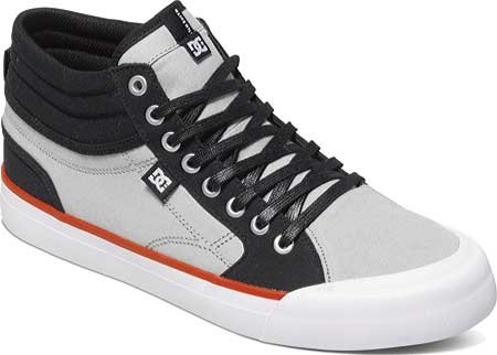 DC Men's Evan Smith Hi Skate Shoe, Black/Grey, 11 M US