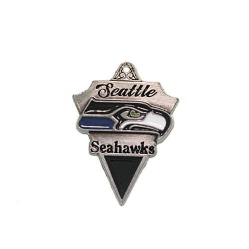 Pewter Seattle Seahawks NFL Pennant Pendant Necklace at Amazon.com
