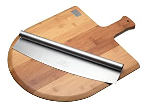 World Of Flavours Italian Pizza Board And Knife Set