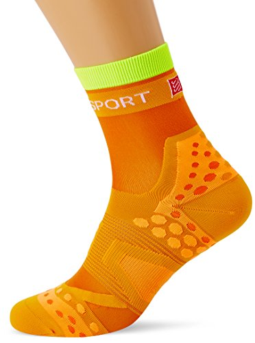 Compressport Racing Socks Ultralight Run Hi Calzino Corsa Ultra Leggero Gara e Allenamento, Arancione, T3