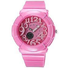 buy Ohsen Children Boy Girl Pink Analog Digital Dual Time Quartz Silicone Band Wrist Watch