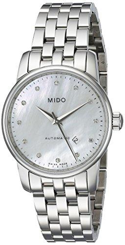 MIDO Baroncelli II M76004691 - Reloj de mujer automático, correa de acero inoxidable color plata