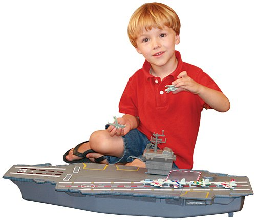 "Mighty Mac - Electronic Giant 31"" Aircraft Carrier With 6 Aircraft"