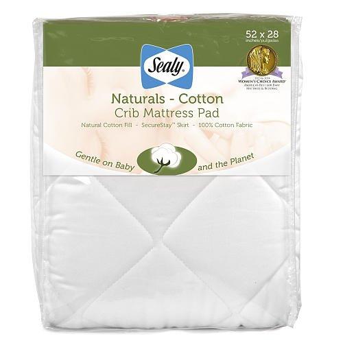 Sealy Naturals Crib Mattress Pad front-36148