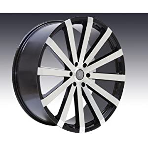 "Amazon.com: SET OF 22"" VELOCITY VW12 5X120 BLACK MACHINED WHEELS WITH"