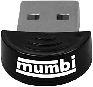 mumbi Mini Bluetooth Dongle USB-Adapter Class2 EDR V2.0 50m - Windows 7 / XP / Vista / 2000