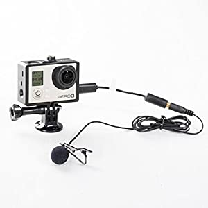 BOYA BY-LM20 Lapel Clip-on Omnidirectional Condenser Lavalier Microphone for GoPro HERO 3 3+ 4 Black White & Silver Editions Sony Canon Panasonic Camcorder