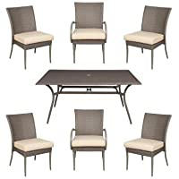 Posada 7-Piece Patio Dining Set with Cushion Insert