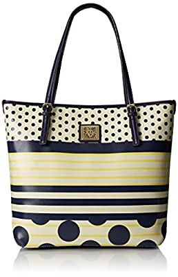 Anne Klein Perfect Tote Large Navy Butter Multi Shoulder Bag