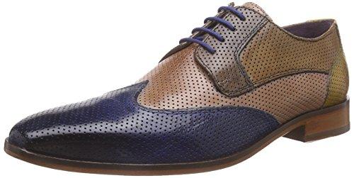 Melvin & HamiltonLance 9 - Scarpe Stringate Uomo , Multicolore (Multicolore - Mehrfarbig (Classic Perfo Electric Blue, Rose, Stone, Tan, Sun LS)), 43