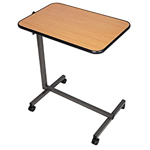 Amazon Com Giantex Overbed Laptop Food Tray Table Rolling