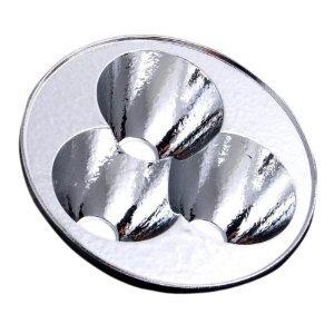 3 X Cree Reflector - Orange Peel Aluminium (18Mm X 50Mm)