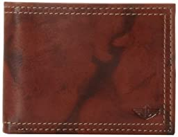 Dockers Men\'s Extra Capacity Leather Bifold Wallet, Brown, One Size