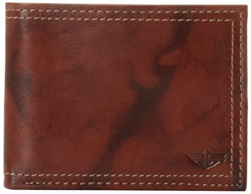 12. Dockers Men's Extra Capacity Leather Bifold Wallet