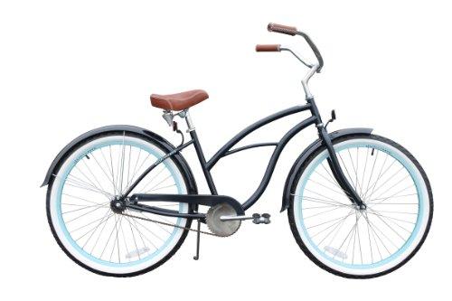 "sixthreezero Women's Classic Edition 26"" single speed (1sp) cruiser bicycle - navy blue"